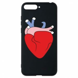 Phone case for Huawei Y6 2018 Heart with vessels