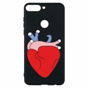 Phone case for Huawei Y7 Prime 2018 Heart with vessels - PrintSalon