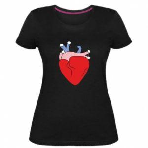 Women's premium t-shirt Heart with vessels - PrintSalon