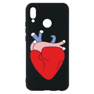 Phone case for Huawei P20 Lite Heart with vessels - PrintSalon