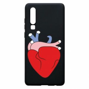 Phone case for Huawei P30 Heart with vessels - PrintSalon