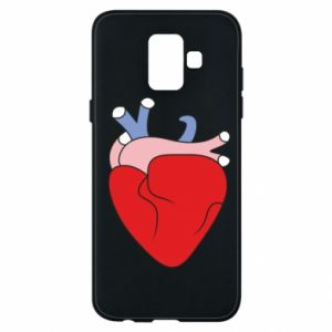 Phone case for Samsung A6 2018 Heart with vessels - PrintSalon