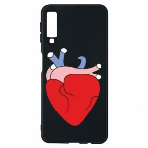Phone case for Samsung A7 2018 Heart with vessels - PrintSalon