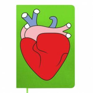 Notepad Heart with vessels - PrintSalon