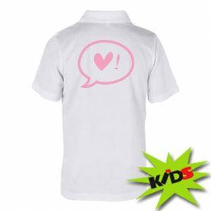 Children's Polo shirts Heart!