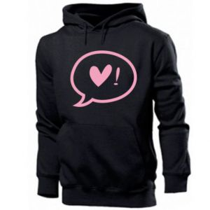 Men's hoodie Heart!