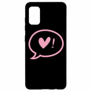 Etui na Samsung A41 Heart!