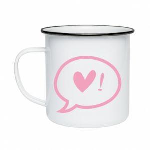 Enameled mug Heart!