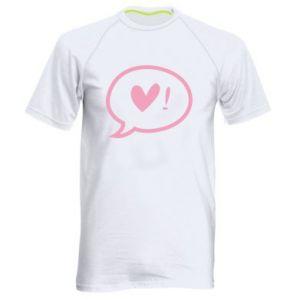 Men's sports t-shirt Heart!