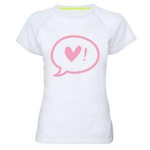 Women's sports t-shirt Heart!