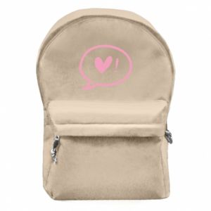 Backpack with front pocket Heart!