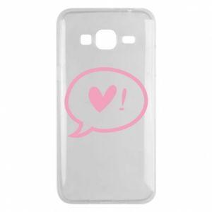 Phone case for Samsung J3 2016 Heart!