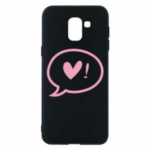 Phone case for Samsung J6 Heart!