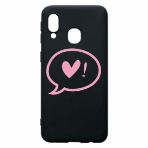 Phone case for Samsung A40 Heart!