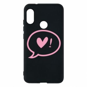 Phone case for Mi A2 Lite Heart!
