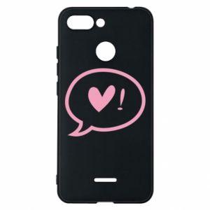 Phone case for Xiaomi Redmi 6 Heart!