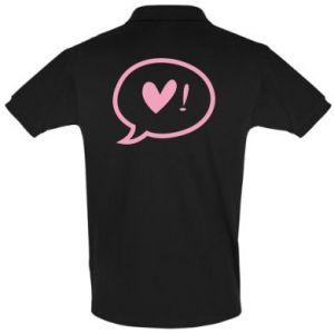 Men's Polo shirt Heart!