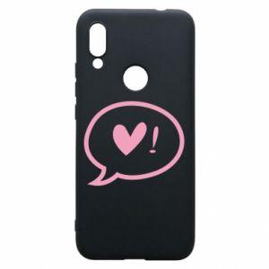 Phone case for Xiaomi Redmi 7 Heart!