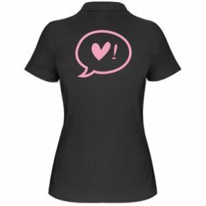 Women's Polo shirt Heart!