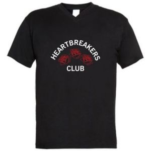 Męska koszulka V-neck Heartbreakers club