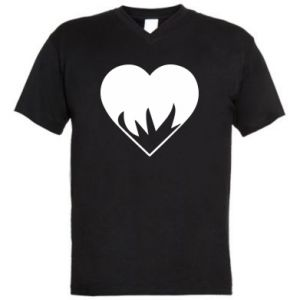 Męska koszulka V-neck Heartburning