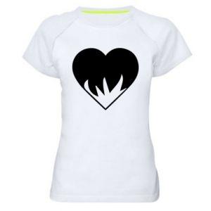 Damska koszulka sportowa Heartburning