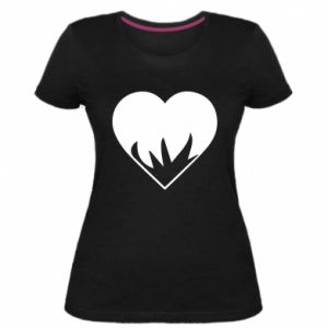 Damska premium koszulka Heartburning
