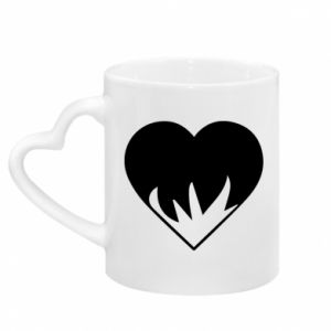 Mug with heart shaped handle Heartburning