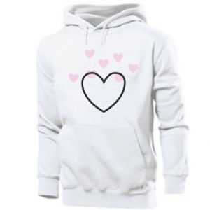 Men's hoodie Hearts with hearts