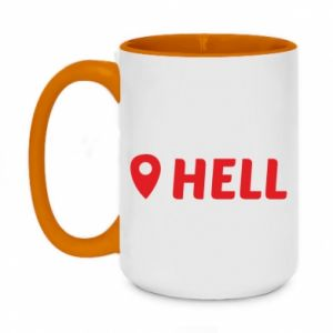 Two-toned mug 450ml Hell is here