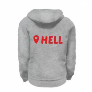 Kid's zipped hoodie % print% Hell is here