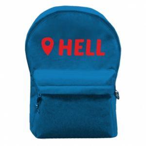 Plecak z przednią kieszenią Hell is here