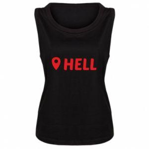 Damska koszulka bez rękawów Hell is here