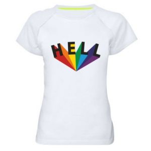 Koszulka sportowa damska HELL