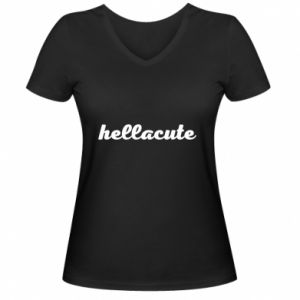 Damska koszulka V-neck Hellacute
