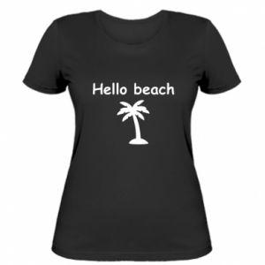 Damska koszulka Hello beach