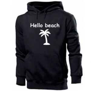 Men's hoodie Hello beach
