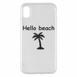 Etui na iPhone X/Xs Hello beach