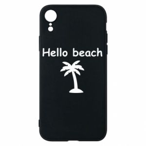 Etui na iPhone XR Hello beach
