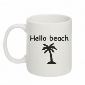 Kubek 330ml Hello beach