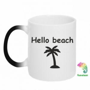 Kubek-kameleon Hello beach