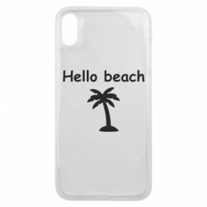 Etui na iPhone Xs Max Hello beach