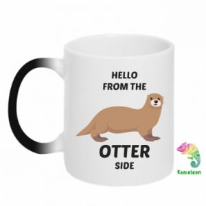 Kubek-magiczny Hello from the otter side