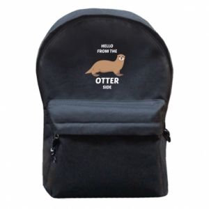 Backpack with front pocket Hello from the otter side