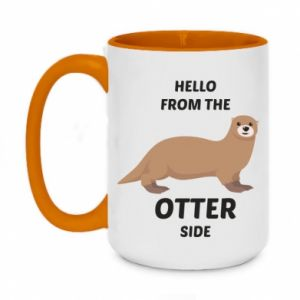 Two-toned mug 450ml Hello from the otter side