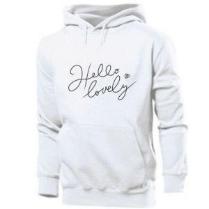 Bluza z kapturem męska Hello lovely