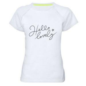 Koszulka sportowa damska Hello lovely