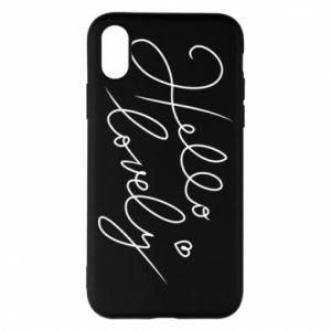 Phone case for iPhone X/Xs Hello lovely