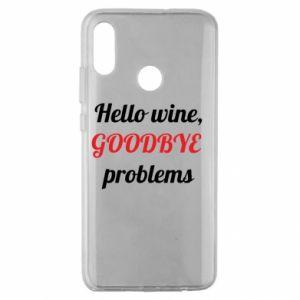 Etui na Huawei Honor 10 Lite Hello wine, GOODBYE  problems