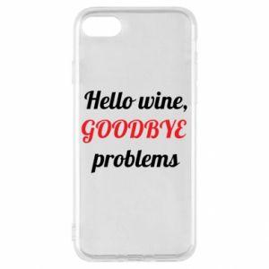 Etui na iPhone SE 2020 Hello wine, GOODBYE  problems
